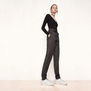 PASALEO Virgin wool high-waisted trousers - Pants - Maje.com