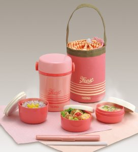 Thermos Stainless Lunch Jar Set Pink JBC-801 CP