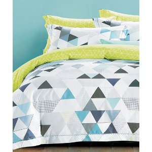 Teal Geometric Duvet Cover SEt | zulily