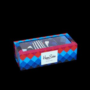colorful Faded Diamond Gift Box- 4-pack Set at Happy Socks!