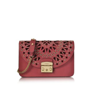 Furla Rubino Red Metropolis Bolero Shoulder Bag at FORZIERI