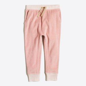 Girls' velour sweatpant : sweatpants | J.Crew Factory