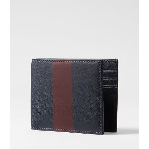 Striped Barrow Leather Slim Billfold - JackSpade