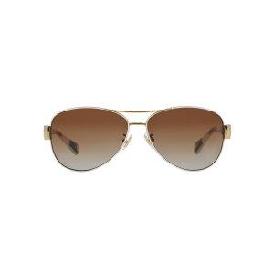 Coach HC7003 KRISTINA 59 Brown & White Polarized Sunglasses | Sunglass Hut USA