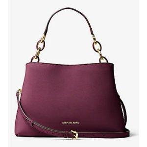 MICHAEL MICHAEL KORS Portia Large Saffiano Leather Shoulder Bag