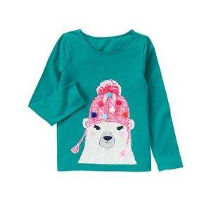 Girls Teal Polar Bear Tee by Gymboree