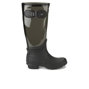 Hunter Women's Original Clear Leg Wellies - Slate - FREE UK Delivery
