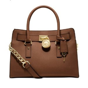 MICHAEL Michael Kors Large Saffiano Hamilton East West Satchel - Handbags & Accessories - Macy's