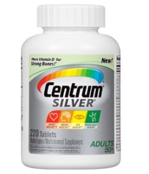 $11.39 Centrum Silver Multivitamin Supplement, Adult, 220 Count