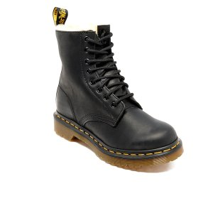 Dr. Martens Women's Serena Burnished Wyoming 8-Eye Boots - Black - Free UK Delivery over £50