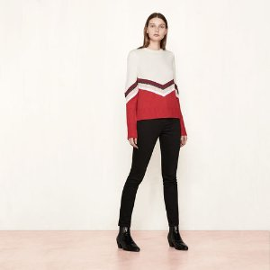 MILK Knit jumper with multicoloured bands - Sweaters - Maje.com