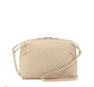 Bottega Veneta Intrecciato Messenger Bag, Off White @ Neiman Marcus