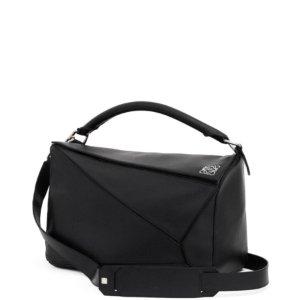 Medium Loewe Puzzle Bag - Black