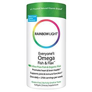 $10.02 Rainbow Light Everyone's Omega Fish & Flax Oil, 60-Count Softgels