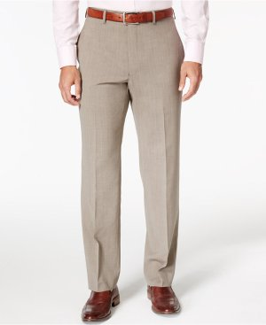 Lauren Ralph Lauren Men's Wool Neat Classic-Fit Stretch Dress Pants