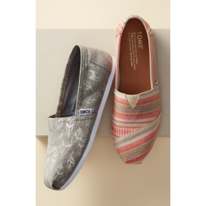 TOMS Classic - Feather Print Slip-On (Women)   Nordstrom