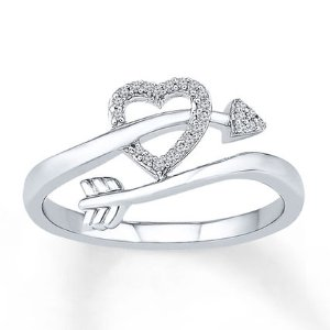 Kay - Heart and Arrow Ring 1/15 ct tw Diamonds Sterling Silver