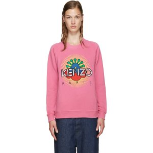 Kenzo: Pink Tanami Flower Pullover