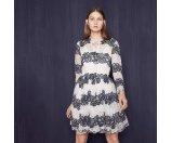 RAYELA Two-tone lace dress - Dresses - Maje.com