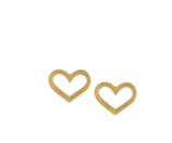 Dogeared Open Heart Stud Earrings