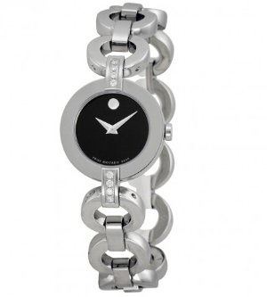 MOVADO Ladies Bela Moda Stainless Steel Bracelet Watch 0606263
