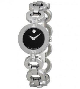 MOVADO Ladies Bela Moda Stainless Steel Bracelet Watch 0606263