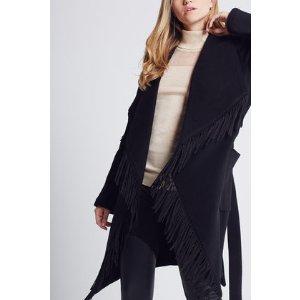 Fringe-Trimmed Coat