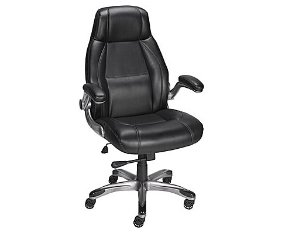 $99Staples Torrent Bonded Leather Managers Chair, Black