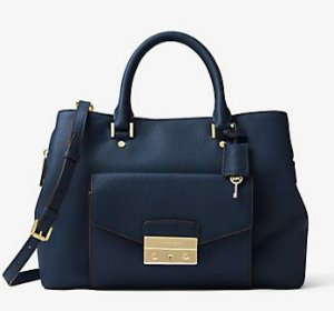 $156.8 (Org. $448) MICHAEL MICHAEL KORS  Haley Large Leather Satchel @ Michael Kors