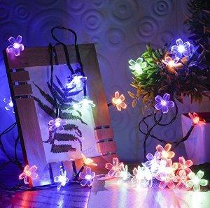 Oak Leaf 30 LED 20ft Multi-color Waterproof Decorative Christmas Lights Led Fairy Blossom Flower Light