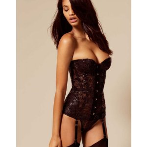Deziree Corset In Black | By Agent Provocateur