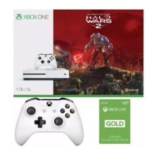多款可选,只需$249.99 (原价$385)!500GB Xbox One S Battlefield 1 套装 + 额外无线手柄 + 3个月会员