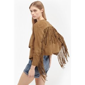Honey Suede Fringed Jacket | Sale | French Connection Usa