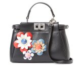 Fendi Peekaboo Micro Flowerland Leather Satchel