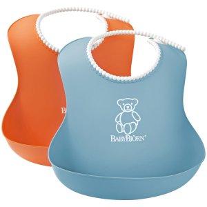 BabyBjorn Soft Bib - Orange/Turquoise - 2 ct - Free Shipping