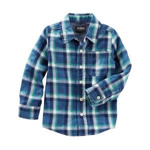 Toddler Boy Plaid Button-Front Oxford | OshKosh.com
