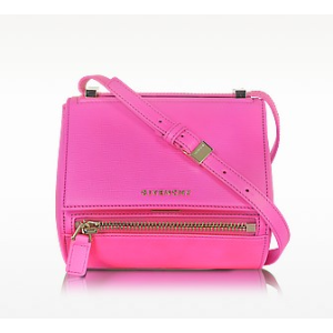 Givenchy Pandora Shocking Pink Leather Mini Box Bag at FORZIERI