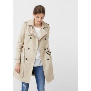 Classic cotton trench coat - Woman | MANGO USA