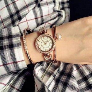 Anne Klein AK/1960GBST 施华洛世奇水晶女士时装腕表(含腕表+2只手环)