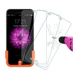 Foxnov Tempered Glass Screen Protector for Apple iPhone 6 Plus/6S Plus