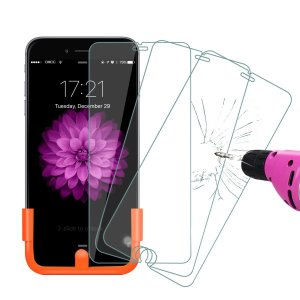 3 Pack! Foxnov Tempered Glass Screen Protector for Apple iPhone 6 Plus/6S Plus