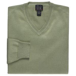 Signature Pima Cotton V-Neck Sweater
