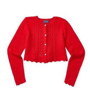CROPPED 红色毛衣