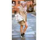 Unineed.com | GRAFEA 100% Leather ROSE Backpack - White&Pink - Bags - Enjoy more for less from Unineed.com