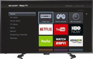 好价!$274.99Sharp 50吋 1080p全高清 Roku智能电视 黑色