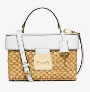 MICHAEL Michael Kors Gabriella Medium Straw Satchel