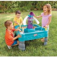 Little Tikes Sandy Lagoon Waterpark Play Table, Teal/Green