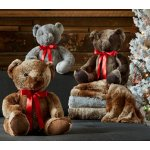 Madison Park Faux Fur Throw with Bonus Teddy Bear