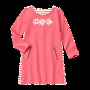 Girls Bright Pink Daisy Shift Dress by Gymboree
