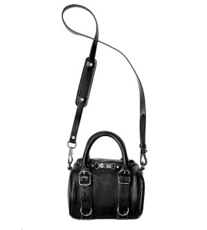 Alexander Wang Mini Rockie Pebbled Leather Satchel Bag, Black  @ Bergdorf Goodman